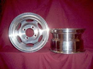Picture of Mini-truck Rim #D4110 - front and side view