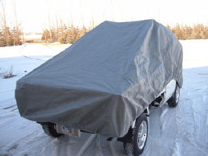 Picture of mini-truck covered with Dura-Lite Mini Truck Cover